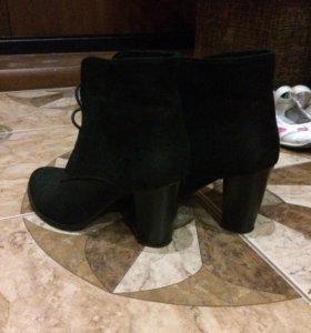 Ботинки замшевые, демисезонные