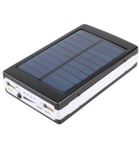Внешний аккумулятор на солнечной батарее 20000 mAh