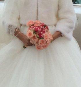 Свадебная шубка болеро накидка