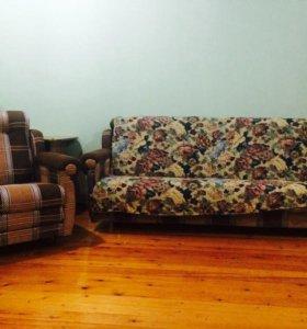 Диван-кровать+кресло-раскладушка