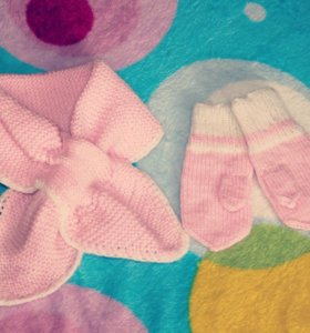 Комплект шарфик и руковички