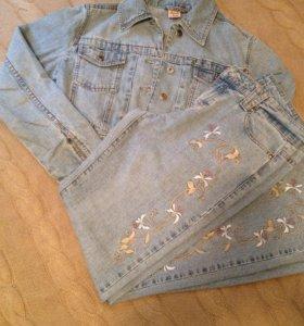 Костюм джинсовый: джинсы и куртка
