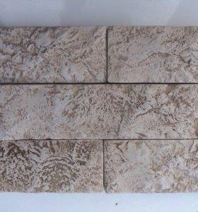 Плитка из гипса. Имитация камня. Кирпичная стена