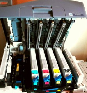Принтер OKI 9655 DN + бумага