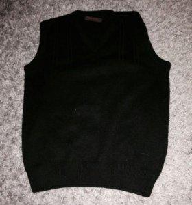 Жилет свитер кардиган школьный теплый