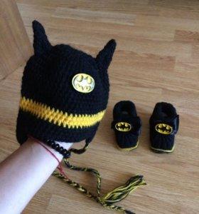 Комплект шапка и пинетки