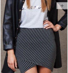 Мини юбка с жаккардовым принтом S, 40-42р.