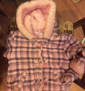 Пальто для девочки на 1,5 - 2 года