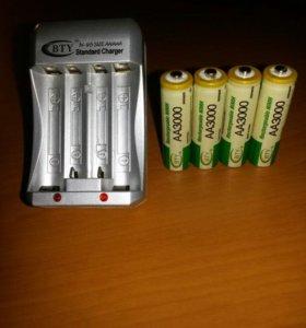 Аккумуляторы аа и зарядное устройство
