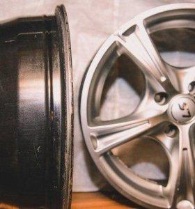 Диски LS Wheels стояли на ВАЗ - 2114