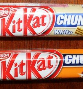 Kit Kat, белый шоколад или арахисовая паста