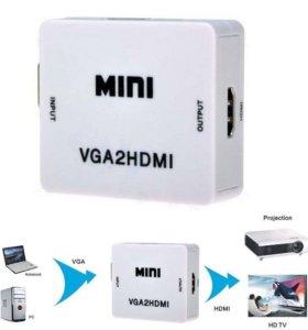 Конвертер VGA на HDMI переходник