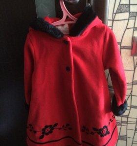 Пальто флисовое 100-110