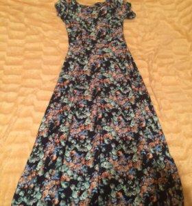 Платье в пол ( бу один раз ) 42-44