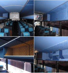 Перетяжка салона автобуса