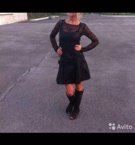 👠👠Кожаное платье