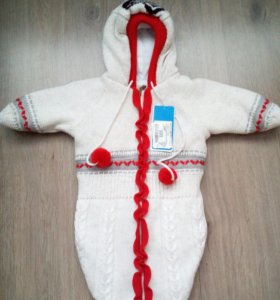 Шерстяной конверт для новорожденных
