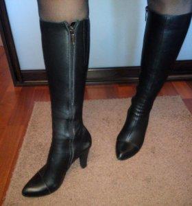 новые кожаные сапоги, осень-весна