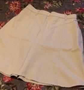 2 джинсовые юбки. Синяя и светлая 48/50