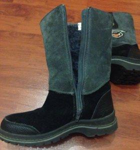 Ботинки зимние,натуральный мех натурал замш