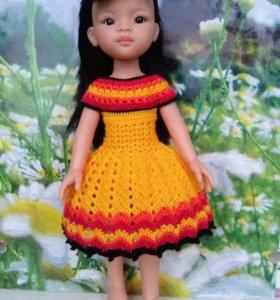 Платье для куклы Паола Рейна 32 см на кнопках