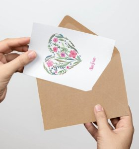 Открытки в крафт-конверте