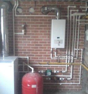 Монтаж систем отопления,водопровода