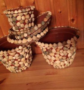 Горшки (заготовки) для рукоделия