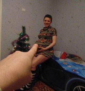 Платье теплое для беременных