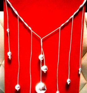 Колье ожерелье бусы