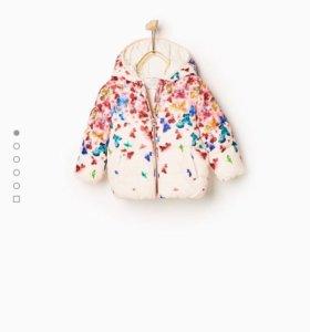 Новая куртка для девочек ZARA 6-9 мес
