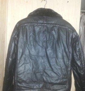 мужская курточка с норковым воротником