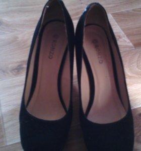Туфли-замш.
