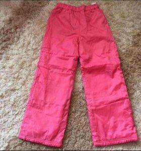 Детские болоневые брюки на флисовом подкладе