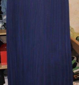 Плессированная юбка в пол