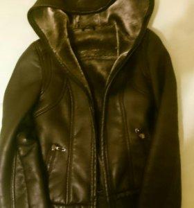 Куртка кож/зам зимняя
