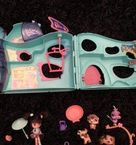 Домик для игрушек little pet shops