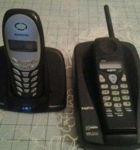 Продам радио телефоны sanyo и siemens