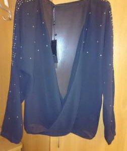Нарядная блуза чёрная р. 48-50 новая