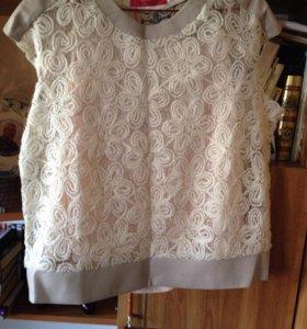 Новая фабричная блуза на манжете
