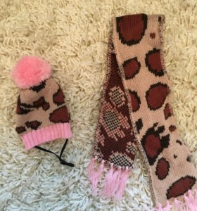 Шапочка и шарфик для кошки/собаки