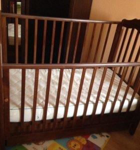 Кроватка + матрас