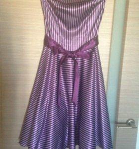 Платье нарядное  +кардиган S