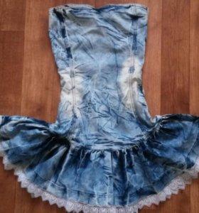 Джинсовое Платье XS в стиле Dolce Gabbana