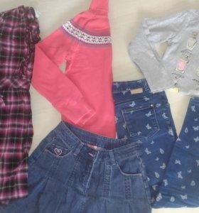 Много одежды на девочку от 7 до 10 лет