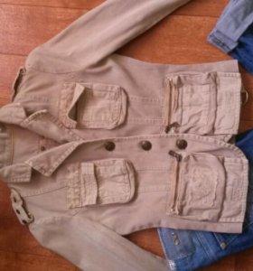 Джинсовый пиджак в стиле Dsquared2