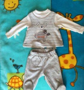 Костюм, комплект prenatal, кофта и штанишки