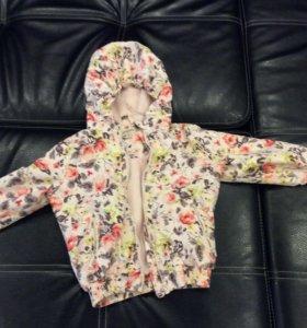 Куртка-ветровка с флисовой подкладкой