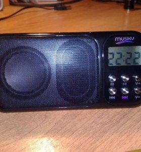 Супер MP3-плеер, радио Musky HJ-92 (USB/FM)