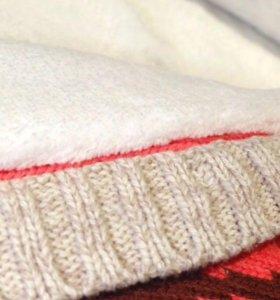 Вязаный комбинезон для малыша(изнутри флис)